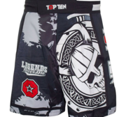 "Topten MMA Board Shorts ""Vikings"" Black/Grey/Red"