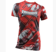 "Topten Rashguard Shortsleeved ""Samurai"" Red/Black/White"
