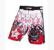 "Topten MMA Board Shorts ""Samurai"" White/Red/Black"