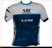 T-Shirt TOPTEN ITF, Blå/Vit