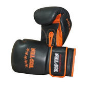 "Topten Sparringhandskar ""Elite Hi-Grade"", Svart/Orange 18 oz"
