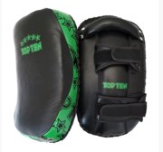 "Topten Curved Thai pad ""Heavy"" Black/Green (single)"