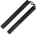 Foam Cord Nunchaku, 30 cm, Black