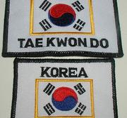 Patch Korean TKD and Flag