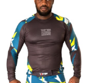 "Topten Rashguard Longsleeved ""Jungle"" Black/Blue/Yelloa"