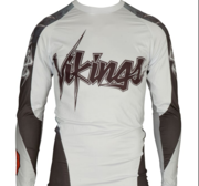 "Topten Rashguard Longsleeved ""Vikings"" White/Black/Red"