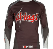 "Topten Rashguard Longsleeved ""Vikings"" Black/Red/White"