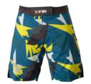 "Topten MMA Board Shorts ""Jungle"" Svart/Blå/Gul"