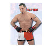 Topten Fight shorts, Red/White