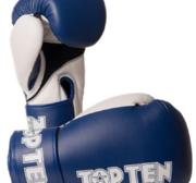Topten Boxningshandske XLP, Blå/Vit 10-12 oz