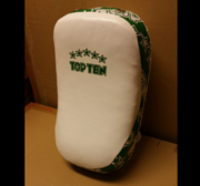 "Topten Curved Thai pad ""Heavy"" White/Green (single)"