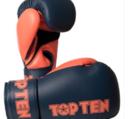 Topten Boxingglove XLP, Greyblue/Orange 10-12 oz