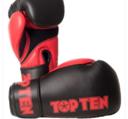Topten Boxingglove XLP, Black/Red 10-14 oz