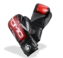 Bytomic Boxhandske AXIS, Svart/Röd 10-16 oz