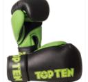 Topten Boxingglove XLP, Black/Green 10-12 oz