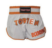 Topten Kickboxing Thaishorts Flexz Pro, Vit/Orange