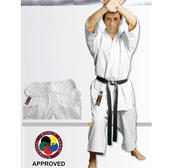 WKF Hayashi Karate Kata GI Yuuga Master White, 12 oz Polycotton