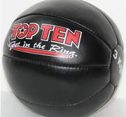 Topten Medicinboll 3 kg, Läder, 30 cm Ø