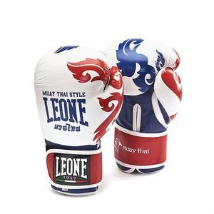 Leone Boxhandske Muay Thai, Vit/Blå/Röd 10-16 oz