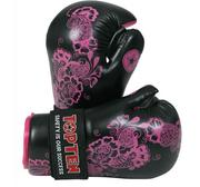 Topten Open Hand Pointfight Flowers, Black/Pink