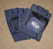Träningshandskar i läder/mesh, Medium