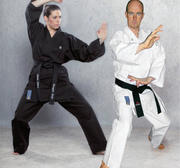 Hayashi Kamiza Karate Gi Black, 12 oz