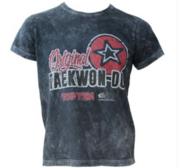 """T-Shirt TOPTEN ITF """"Originial Taekwon-Do"""" Retrolook, Grå"""