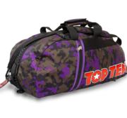 Topten Bag/Backpack, Camouflage Black/Brown/Purple Large
