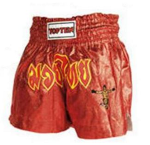 Topten Thaiboxningshorts Shine, Röd
