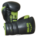 Topten Boxingglove Lace Up Pro, Black/Green with lacing,16 oz