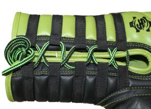 Topten Boxhandske Lace Up Pro, Svart/Grön med snörning,16 oz