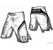 Booster MMA trunks PRO Trial, White/Black