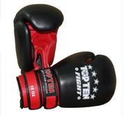 Topten Boxningshandske Fight, Svart/Röd  16 oz