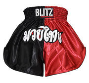 Blitz  Kids Thaishorts Röd/Svart
