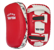 "Topten Curved Thai pad ""Heavy"" Red/White (single)"