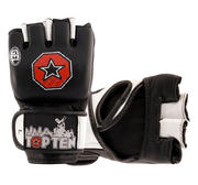 Topten MMA Competition GEL Grappling Gloves, Black