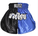 Blitz Kids Thaishorts Blue/Black