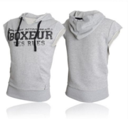 "Sleeveless Hood ""Boxeur des Rues"", Grey"