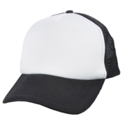 Black Hill Texas Cap, Black/White 58 cm