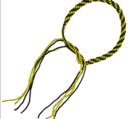 Thai Praijoud armring, Yellow/Black (pair)