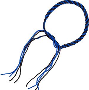 Thai Praijoud armring, Blå/Svart (par)