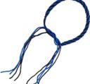Thai Praijoud armring, Blue/Black (pair)