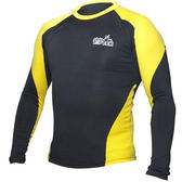 Topten Rashguard Longsleeved Black/Yellow Small