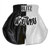 Blitz Kids Thaishorts Black/White