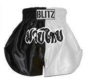 Blitz  Kids Thaishorts Svart/Vit