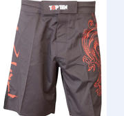 Topten MMA Board Shorts Dragon, Black/Red