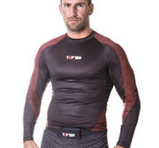 "Topten Rashguard Longsleeved ""Dragon"",  Black/Red"